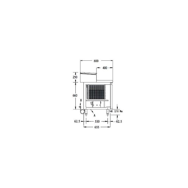 L15 L19 - Table réfrigérée tout inox positive et négative