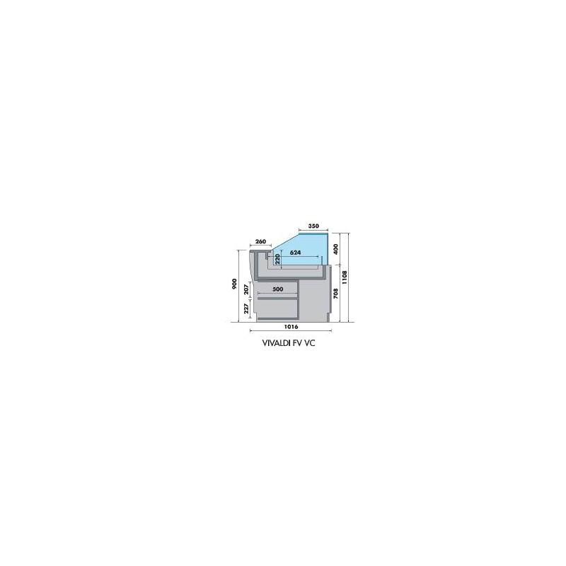 VRX - Vitrine réfrigérée à poser GN 1/4 ou GN 1/3