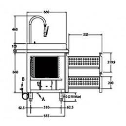 MB 100 T - Arrière de bar modulable