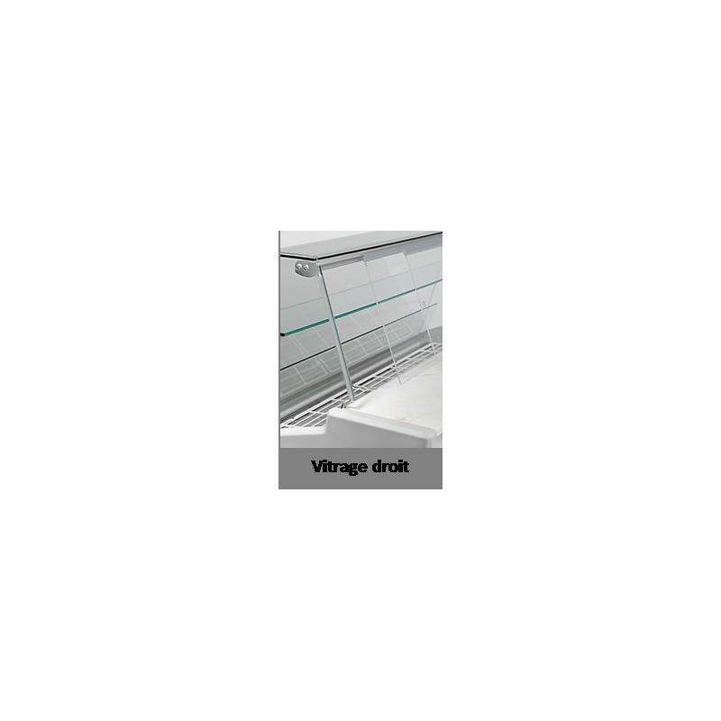 AMALIA - Vitrine réfrigérée ou bain marie ou bacs réfrigérés ou plaque chaude