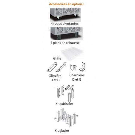 TCK400 / TCF400 ARMOIRES ET VITRINES 300 LITRES INOX EXTERIEUR